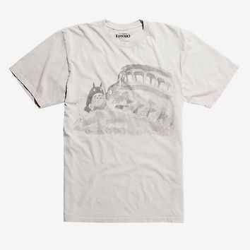Studio Ghibli My Neighbor Totoro 30th Anniversary Watercolor Catbus T-Shirt