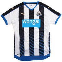 Newcastle Home Replica Soccer Jersey White / Blue