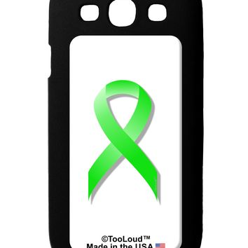 Lyme Disease Awareness Ribbon - Lime Green Galaxy S3 Case  by TooLoud