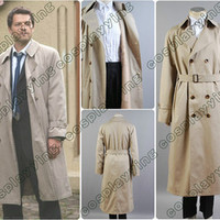 Supernatural Castiel Twill Trench Coat Costume Custom Made