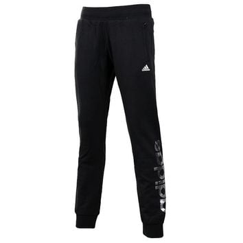 Adidas Women Letter Print Thickened Casual Long Pants Systole Foot Sweatpants