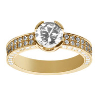 Brilliant-Set Diamond Ring in Yellow Gold by ReneSim