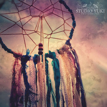 Bohemian Dreamcatcher Photo, Gypsy Wall Art, Boho Home Decor, Magical, Native, Ethnic, Colorful, Free Spirit, Hippie - Dream a Little Dream