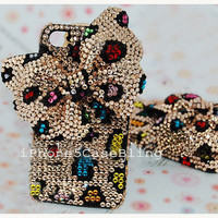 iPhone 5 Case, iPhone 4 Case, iPhone 4s Case, bling iphone 4 case, iphone 5 bling case, big bow iphone 4 case, Cute iphone 4 case butterfly