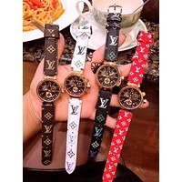 "LV ""Louis Vuitton"" Fashion Women Men Personality Quartz Machine Core Watch Couple Wrist Watch(4-Color) I-JYXCX-YB"