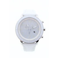Citizens Womens Eco Drive Leather Water Resistant Chronograph Watch