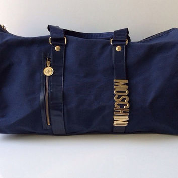 Vintage Moschino Travel Bag w/ strap