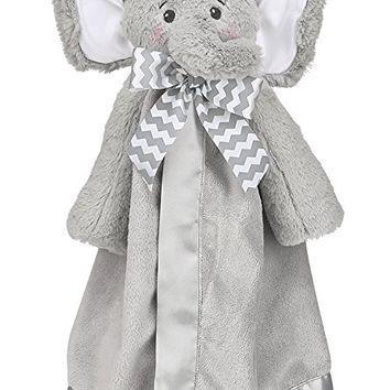 Bearington Baby Lil' Spout Snuggler, Plush Elephant Security Blanket, Lovey 15""