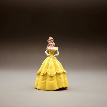Beauty & Beast Princess Belle Rapunzel Little Princess Sofia Decoration Action Figures Model Cake Doll Children Toys Kids Gifts