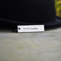 Tread Lightly Key Chain - Breaking Bad - TV - Pop Culture - Quote - Silver - For Him - For Her - Under 20 - Under 25 - Stocking Stuffer
