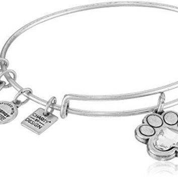 Alex and Ani Charity By Design, Prints of Love EWB Rafaelian Silver Bangle Bracelet