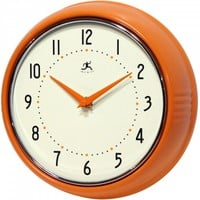 Retro Orange Wall Clock