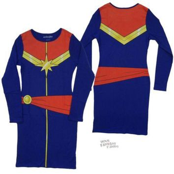 I Am Captain Marvel Comics Junior Body Convention Dress
