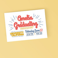 Fun College Grad announcement - Printable Graduation Announcement Invitation - DIY Printable Invitation