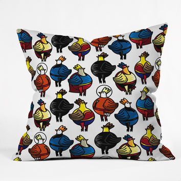 Raven Jumpo Super Chicks Throw Pillow