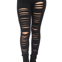 LASER CUT DISTRESSED PANT