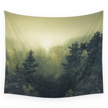Society6 Forests Never Sleep Wall Tapestry