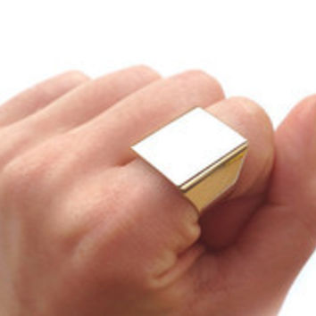 Mirror Square Ring