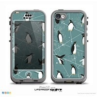 The Vintage Penguin Blue Collage Skin for the iPhone 5c nüüd LifeProof Case