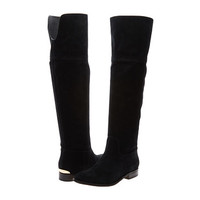 MICHAEL Michael Kors Regina Flat Boot Black Sport Suede - Zappos.com Free Shipping BOTH Ways
