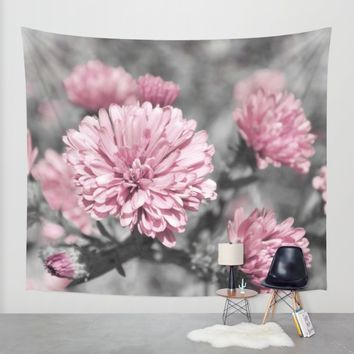 Blushing Gray Wall Tapestry by Lisa Argyropoulos