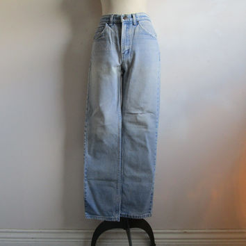 Vintage GWG 80s Jeans Distressed Cotton Blue Denim Great Western Garment Grunge Pants 32 x 32
