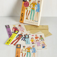 Vintage Inspired Just Sew Sweet Notecard Set by Chronicle Books from ModCloth