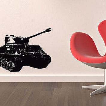 Wall Mural Vinyl Sticker Decal   MILITARY MACHINE TANK  DA818
