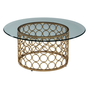 Bassett Mirror Carnaby Round Coffee Table - Gold