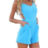 Playsuit Party Evening Summer Ladies Dress Jumpsuit Shorts