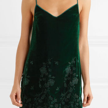 I.D. Sarrieri - Nuits a Moscou embroidered velvet chemise