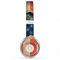 The Scratched Surface Peeled American Flag Skin for the Beats by Dre Solo 2 Headphones