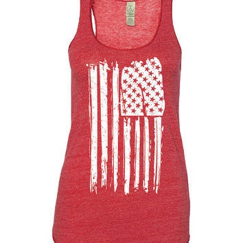 4th of July Shirt Women. Patriotic Shirt. American Flag Tank Top. American Flag Shirt. Stars and Stripes. Red White and Blue.