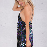 ♡ Deep V sequin Backless Luxury Slip Dress ♡