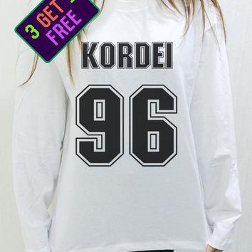 Normani Kordei 96 Shirt Fifth Harmony White Unisex Men Women Tshirt Long Sleeve