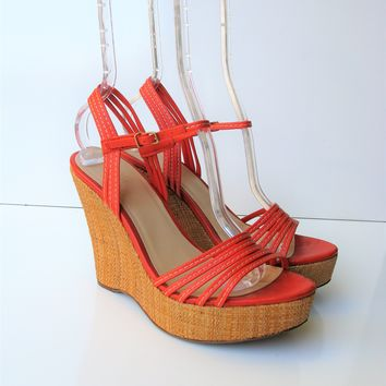 J.Crew Made in Italy Bette Platform Wedge Sandals 8