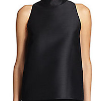 The Row - Nate Collared Wool Top - Saks Fifth Avenue Mobile