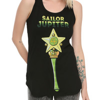 Sailor Moon Sailor Jupiter Wand Girls Tank Top
