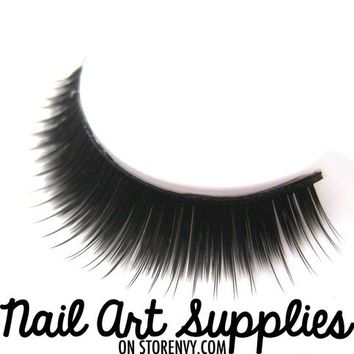 nailartsupplies | Full Black Synthetic Faux False Eye Lashes Reusable | Online Store Powered by Storenvy