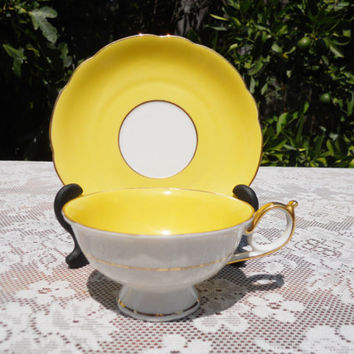 Royal Bayreuth Tea cup Bavaria Germany US Zone Yellow