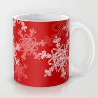 Red snowflakes Mug by Silvianna
