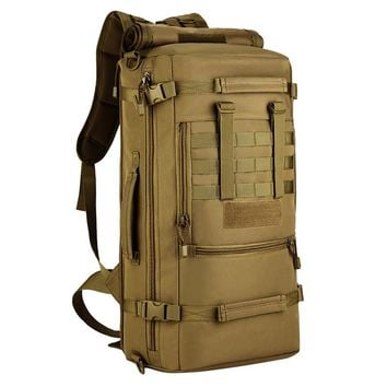Military Tactical MOLLE Assault Backpack Pack 3 Way Modular Attachments Large Waterproof Bag Rucksack Outdoor Hiking Gear 50L