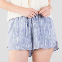 Wichita Printed Chambray Shorts