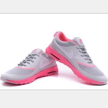 Nike Air Max Thea Print Casual Sports Shoes Light gray-pink soles