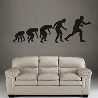 ik1387 Wall Decal Sticker boxing kick boxing evolution sports bedroom sports