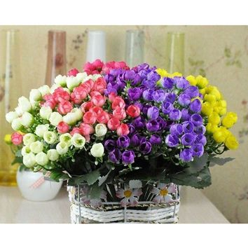 1 Bouquet 36 heads Roses Artificial Flowers Wedding Bridal Bouquet Decoration
