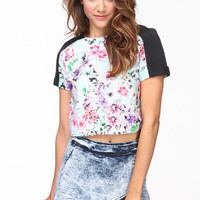 SILKY BLOOM CROP TOP