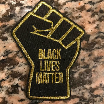 Black Lives Matter Fist Velcro Patch