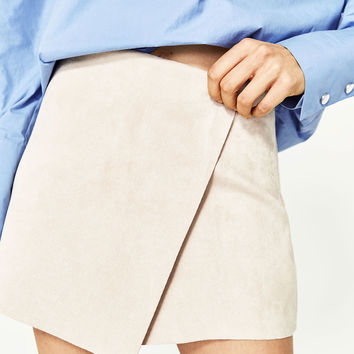 FAUX SUEDE SHORTS - NEW IN-WOMAN | ZARA United States