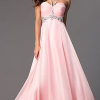 Floor Length Halter JVN by Jovani Dress